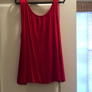 Red shirt with detailed back